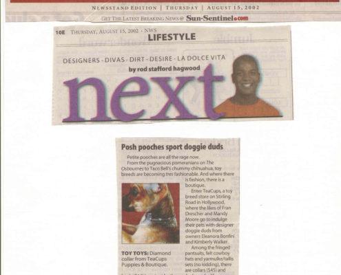Sun-Sentinel August 2002