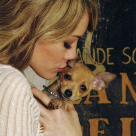 Hilary Duff and Lola at Teacups Puppies & Boutique